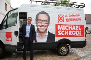 Michael Schrodi im Wahlkampfmodus